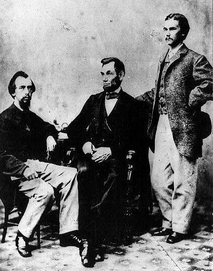 JJohn Nicolay (seated) and John Hay (right) were best friends who worked selflessly for President Lincoln. After the war they toiled equally hard to craft his image and defend the Unionist perspective of the war.